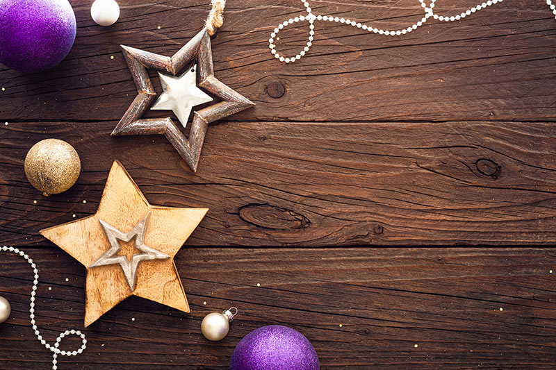 Déco étoile de Noël en bois de récup.