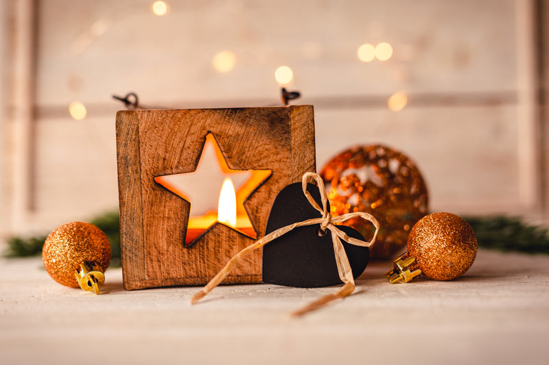 Décorations Noël en bois de récup.