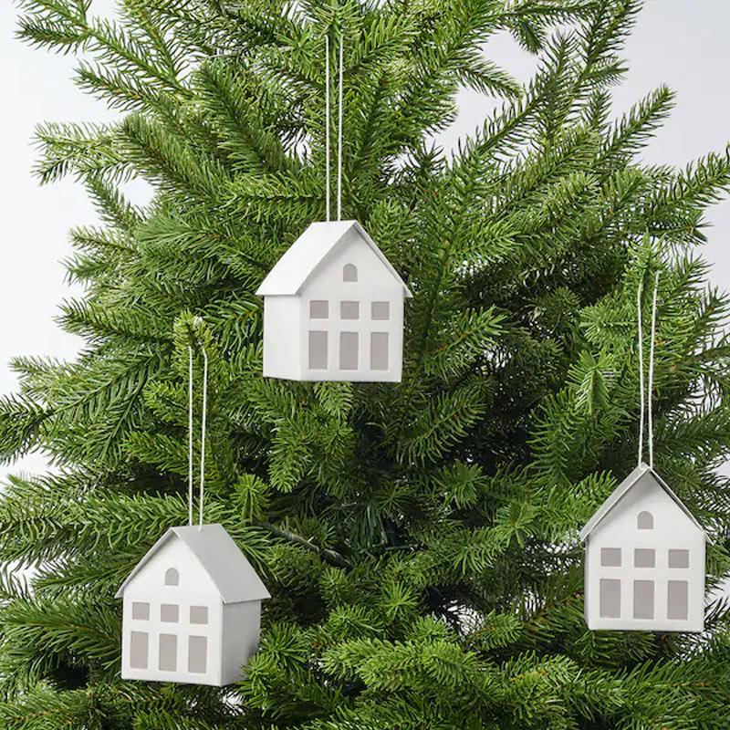 Décorations sapin de Noël IKEA.