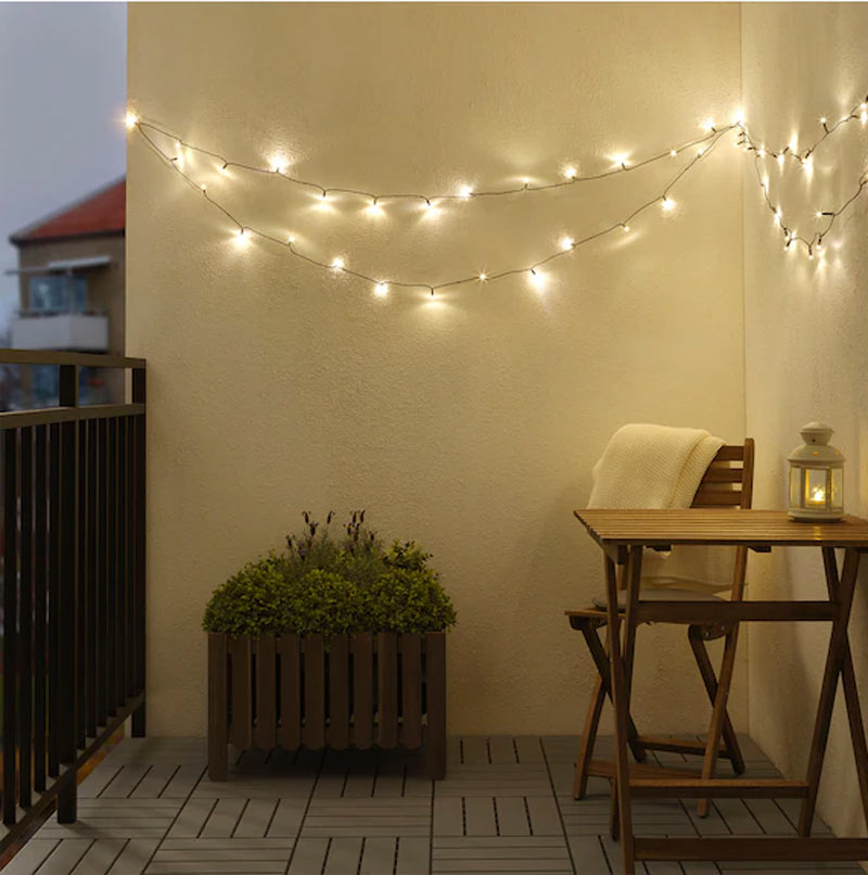 Lumières de Noël IKEA.