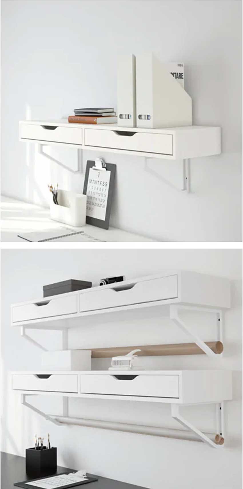Étagères IKEA EKBY.