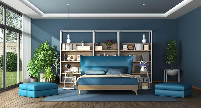 Décoration chambre à coucher pantone 2020.