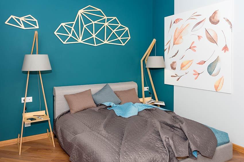 Mur chambre à coucher pantone Bleached Coral 2020.