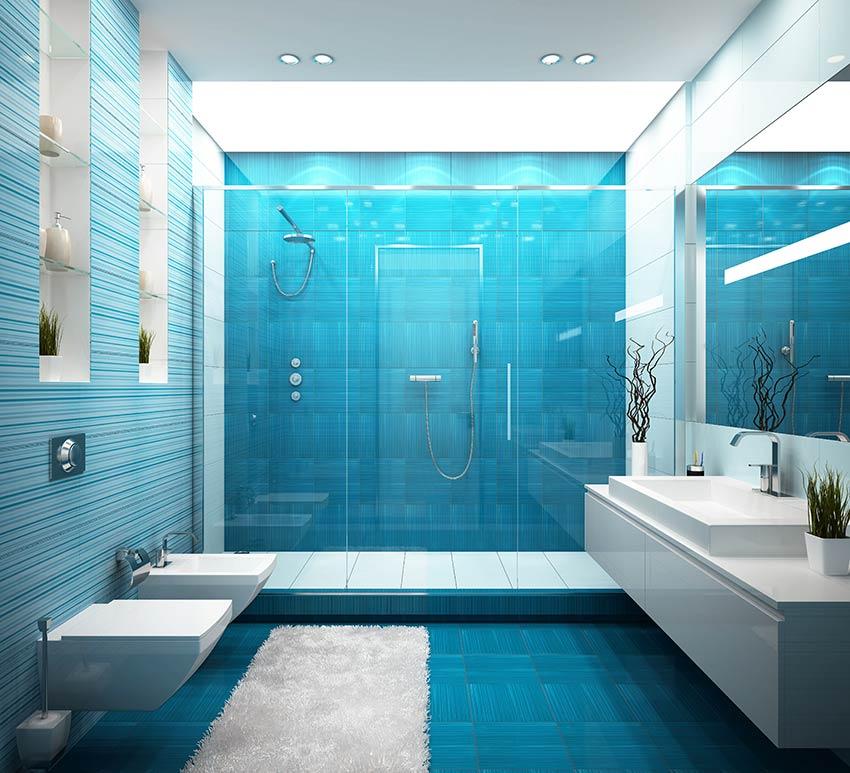 Décoration salle de bain avec pantone Bleached Coral 2020.