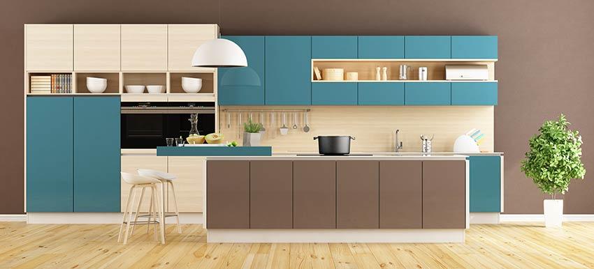 Décoration cuisine avec couleur année 2020.