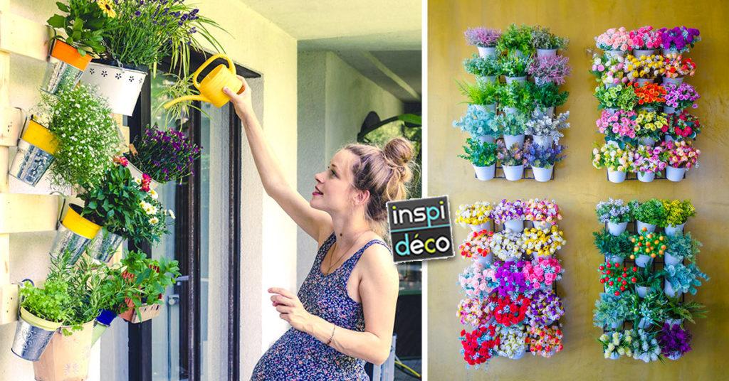 idées jardin vertical maison