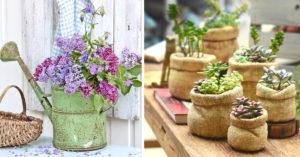 Idées pots de fleurs DIY avec recup