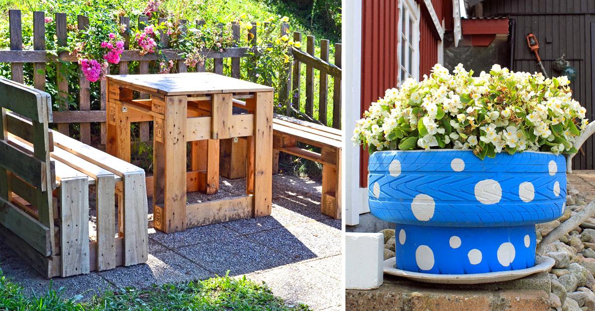 Des idées bricolage DIY pour le jardin.