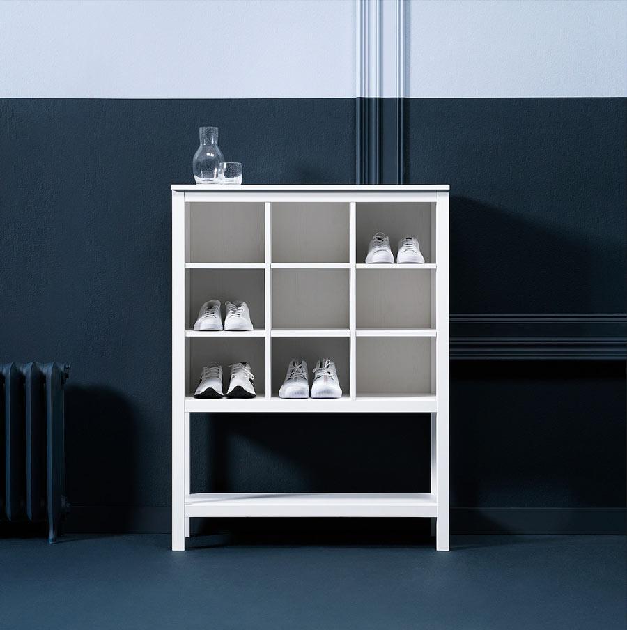 Meuble de rangement à chaussures design de chez IKEA.