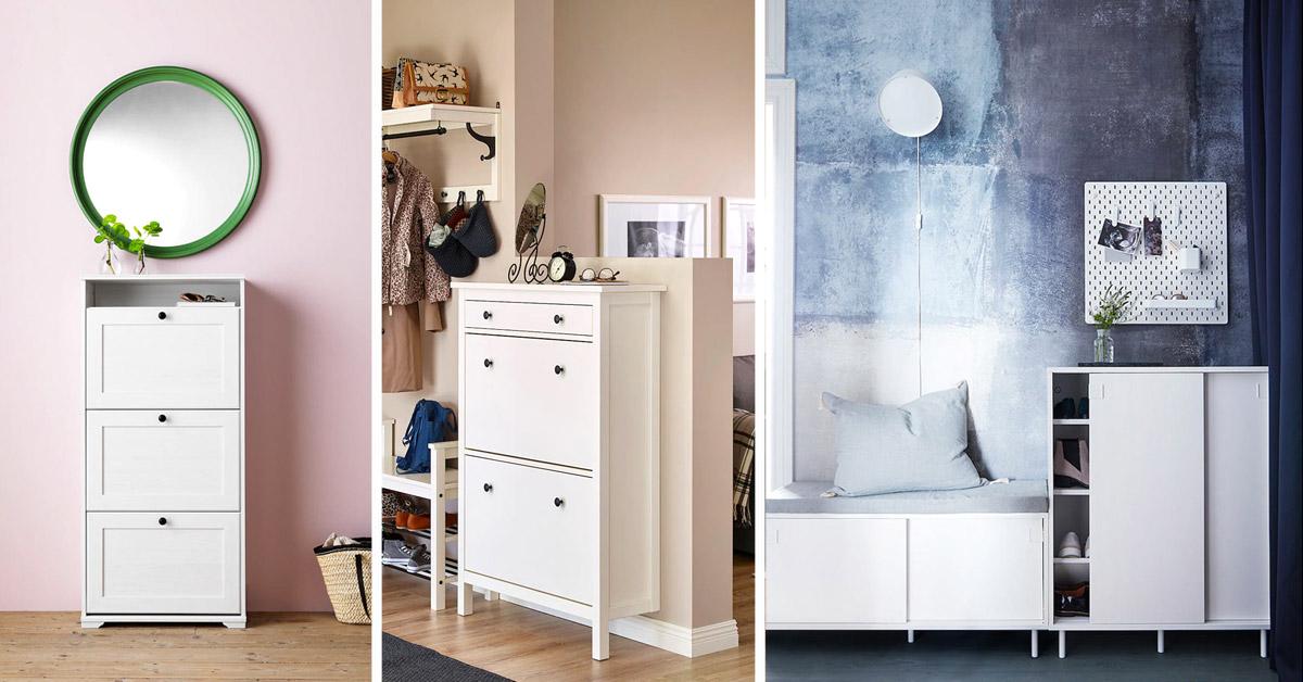 Idées meubles et rangements à chaussures IKEA.