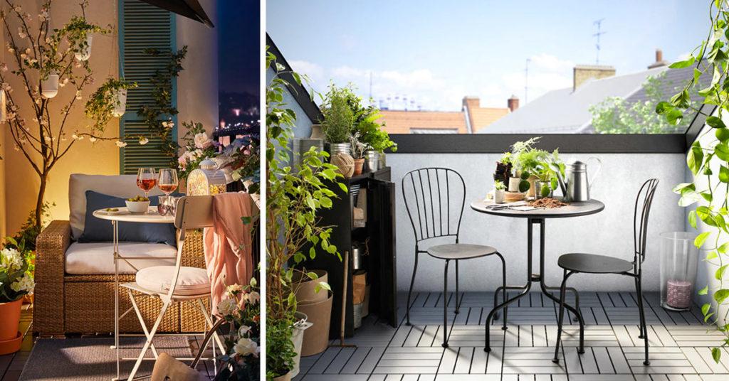 idées pour meubler la terrasse avec IKEA.