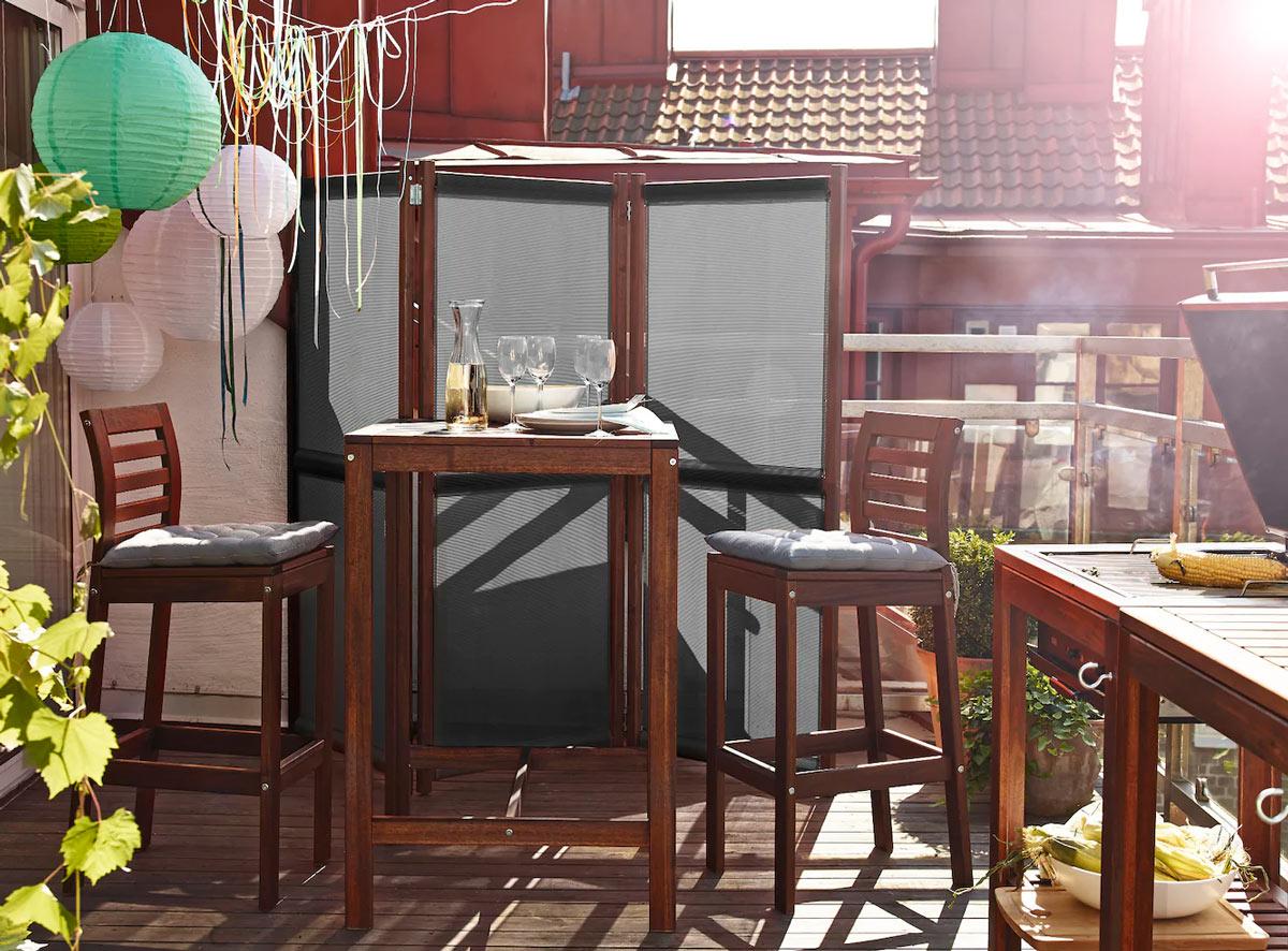 Aménager un petit balcon avec IKEA.