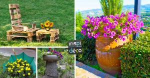 Décorer son jardin avec de la récup