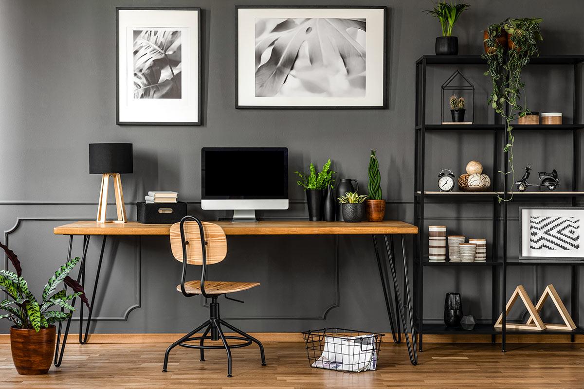 ameublement moderne de bureau à la maison