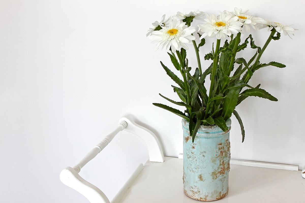 vase à fleurs recyclé