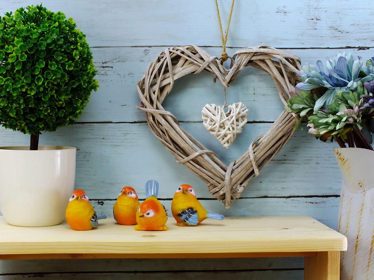 osier en forme de cœur à suspendre pour décorer.