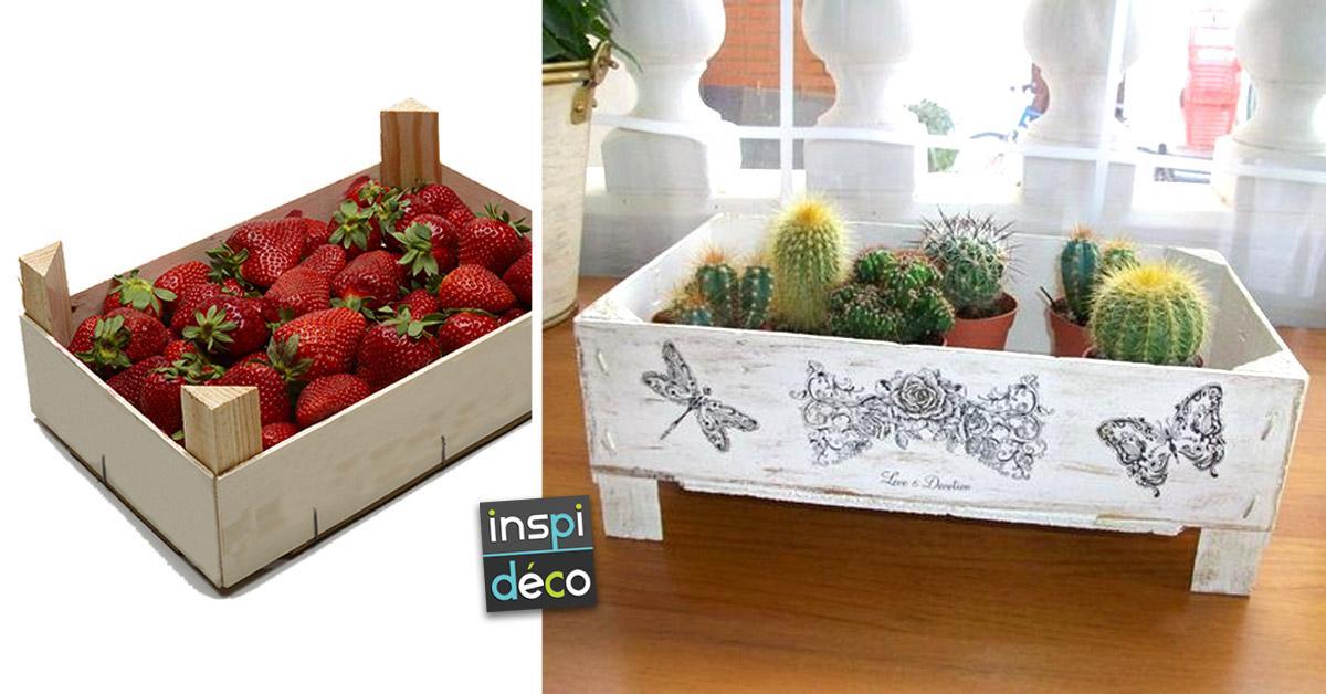 Récupérer les cagettes de fraises.