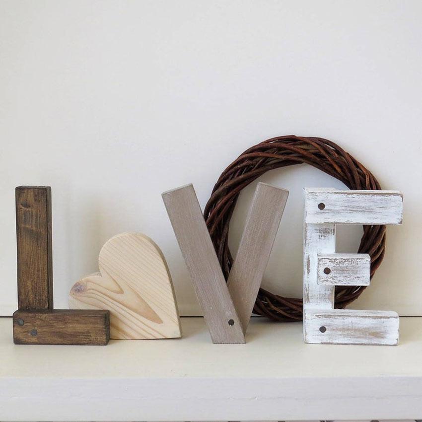 écriture love DIY en bois recyclé