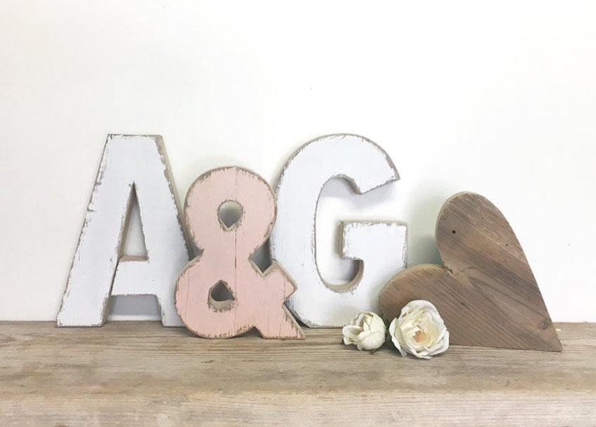 lettre en bois décoration DIY