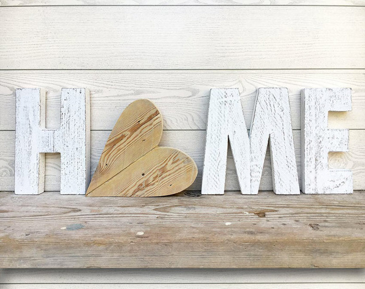 Dècoration DIY home avec coeur