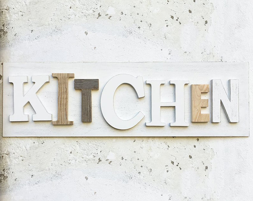 écriture DIY kitchen shabby chic