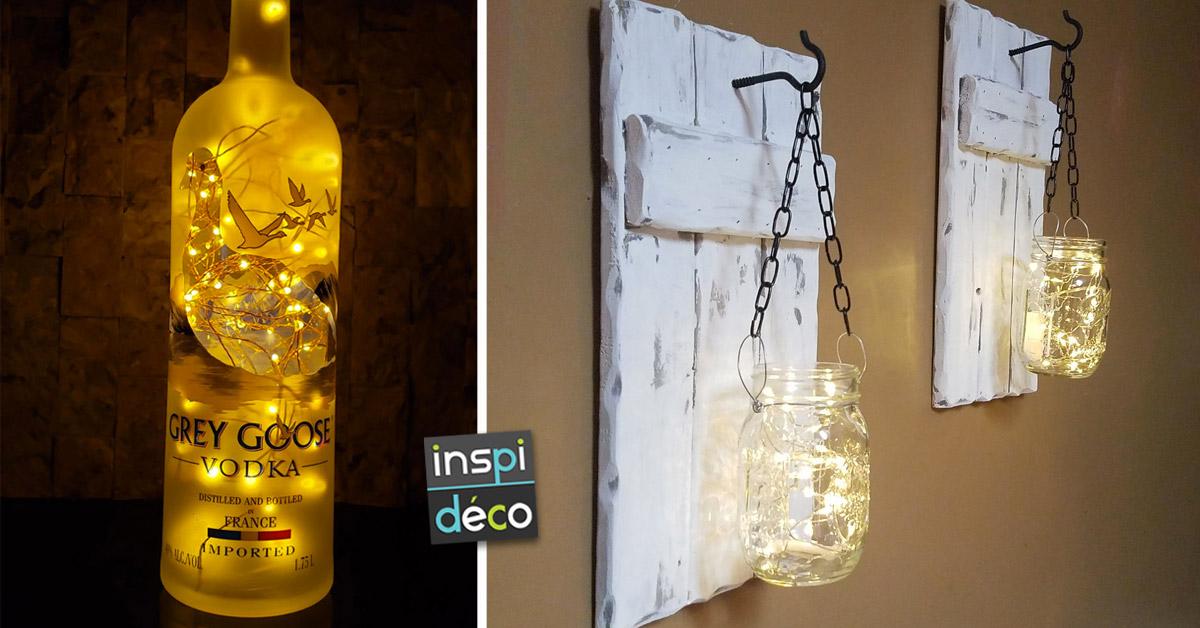 Lampes originales avec des objets de récup