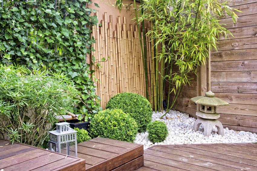 murs de cannes en bambou pour extérieur