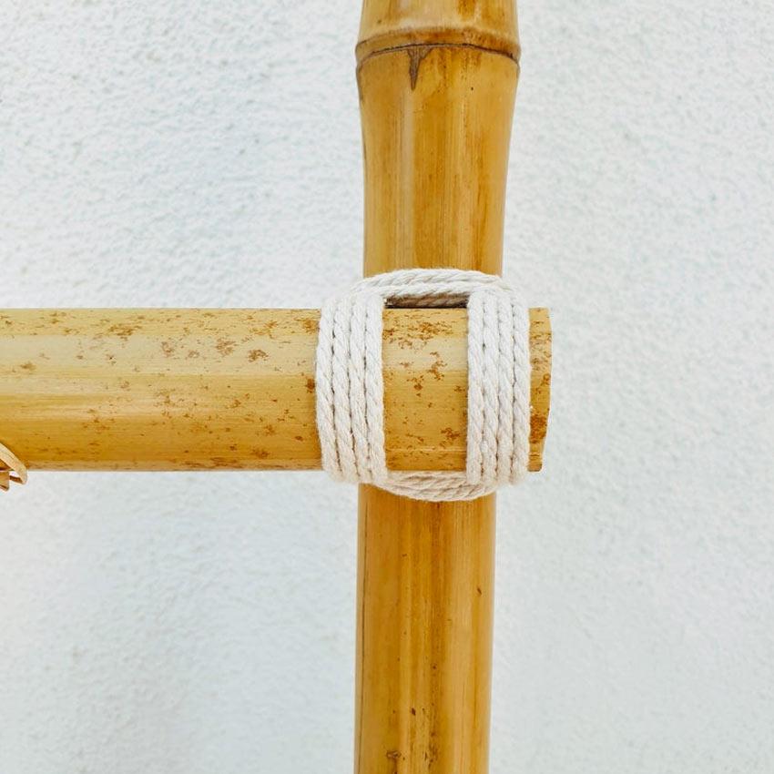 comment relier deux cannes de bambou avec de la corde