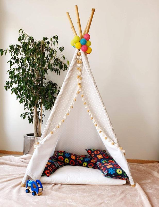 tente indienne DIY pour intérieur