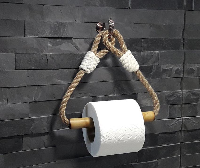 porte-rouleau papier toilette en bambou original