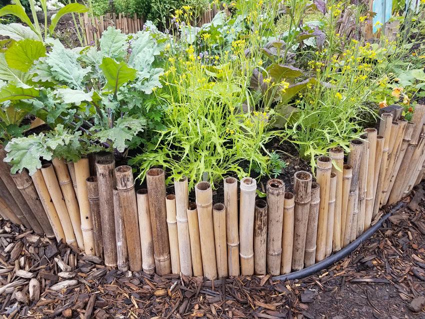 parterres de fleurs en bambou DIY