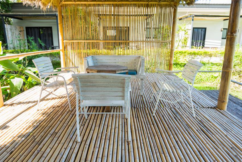salon DIY en bambou