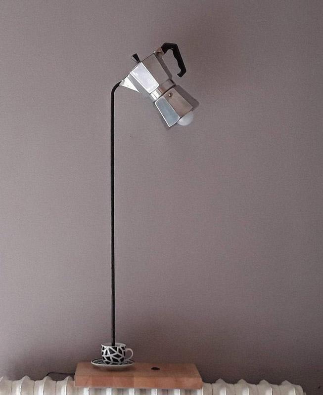 lampe DIY avec cafetière