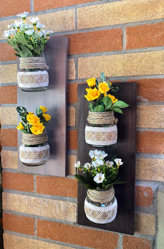 Porte-fleurs DIY muraux