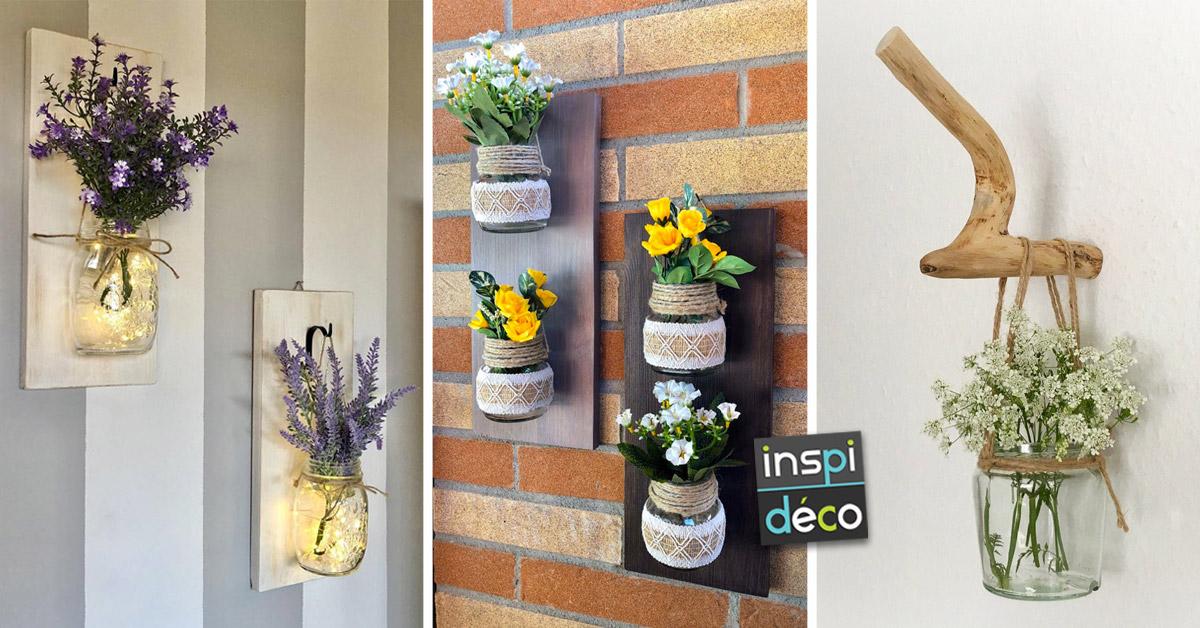 Porte-fleurs muraux DIY en style provençal