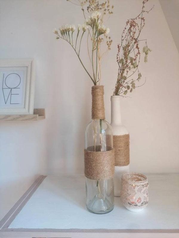 vase avec jute DIY