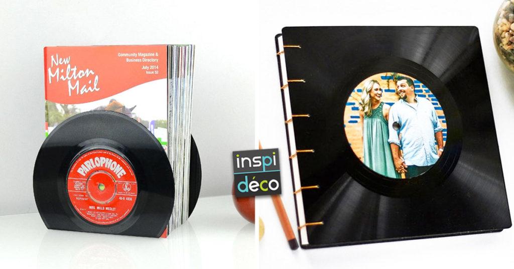 13 décorations DIY en récupérant des vinyles vintage