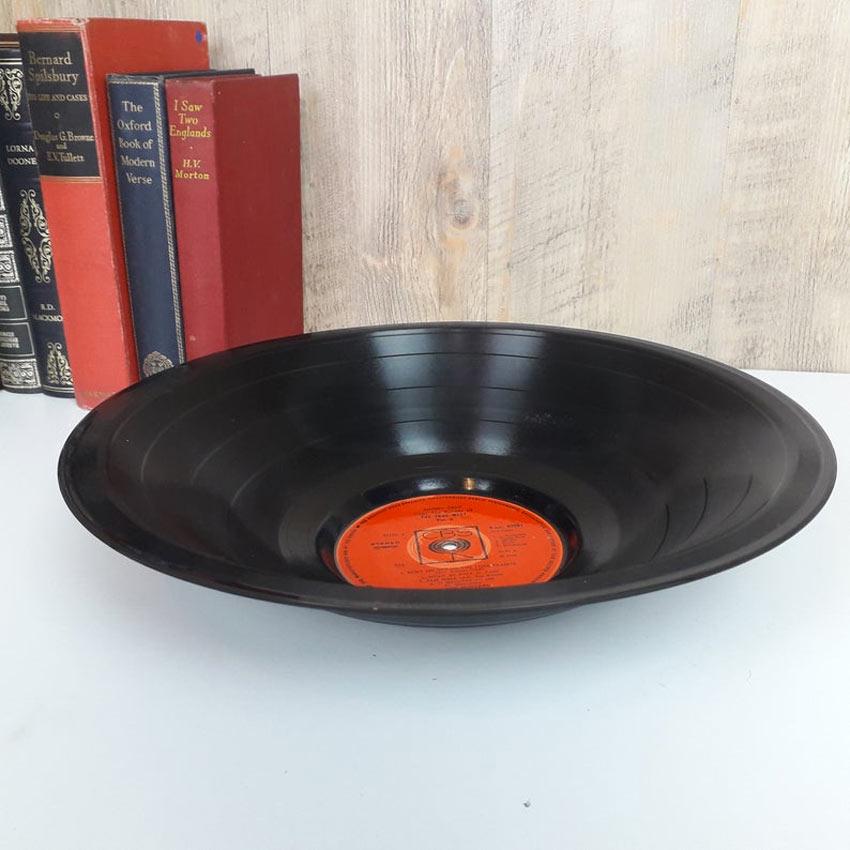 décorations DIY en récupérant des vinyles