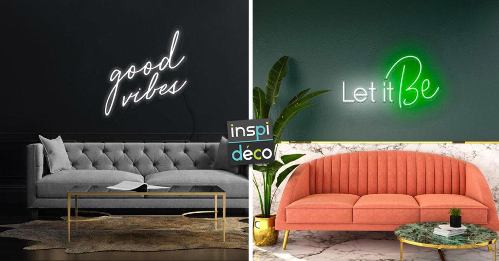 idées cool pour décorer votre maison avec des néons