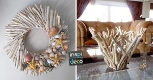 créations DIY originales avec du bois flotté
