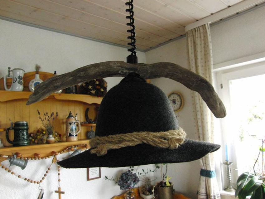 lustre avec chapeau original
