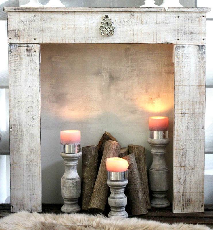 décorer maison de camnpagne cheminée grise