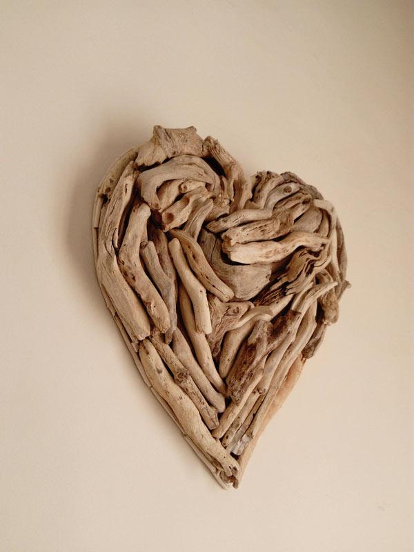 déco murale coeur DIY original fait en bois