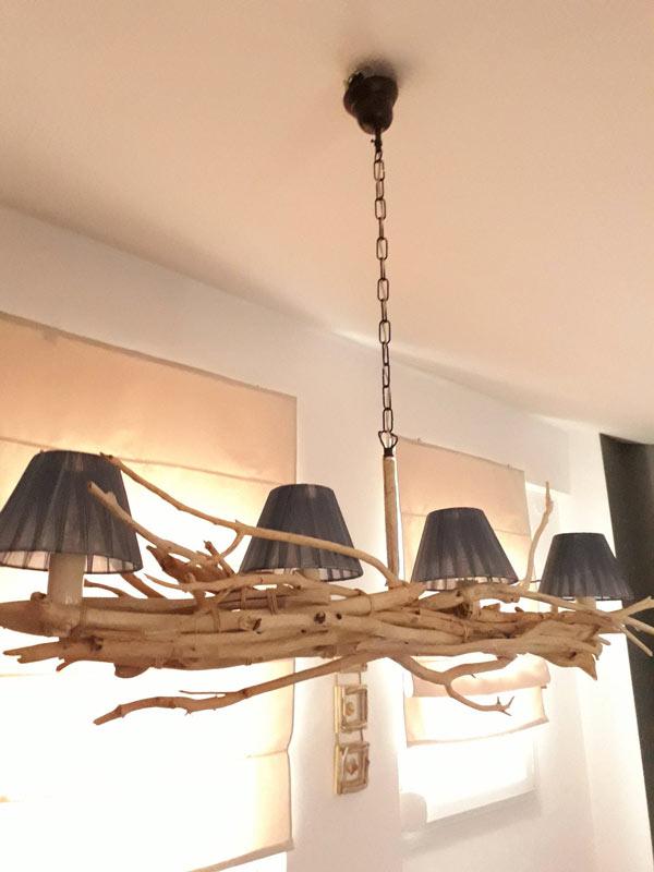 lustre DIY avec branches de bois