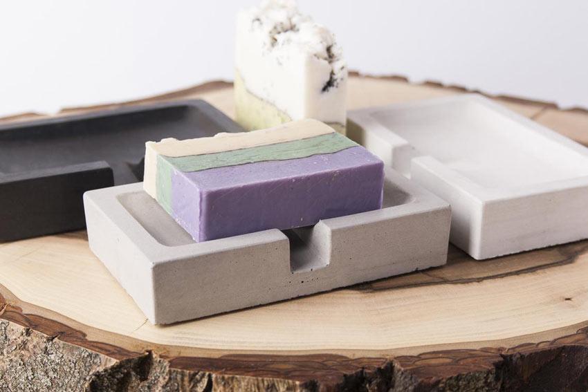 magnifique porte-savon DIY en ciment