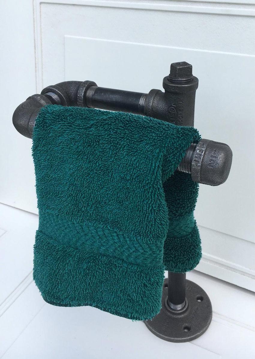 porte-serviettes créatifs pour une salle de bain