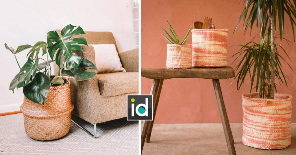 Un joli panier cache-pot pour vos plantes