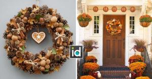 Couronnes d'automne pour décorer votre maison
