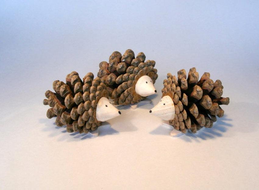 idées pour décorer votre maison en recyclant des pommes de pin