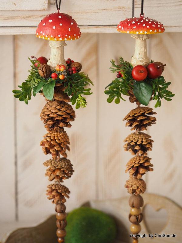 décorer maison avec des pommes de pin
